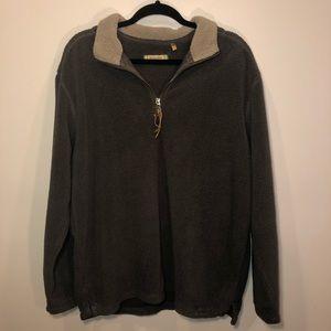 True Grit Dry Goods Sherpa Quarter Zip Sweater